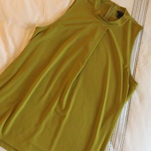 Ann Taylor zip back green tunic top, like new XL